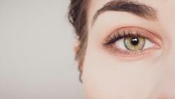 beautiful close-up shot of woman eye