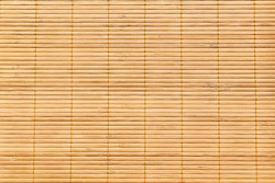 Beautiful close up texture of bamboo curtain, bamboo curtain is the traditional Japanese's style.  Bamboo background and texture.