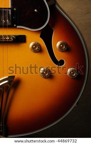Beautiful closeup of electric guitar