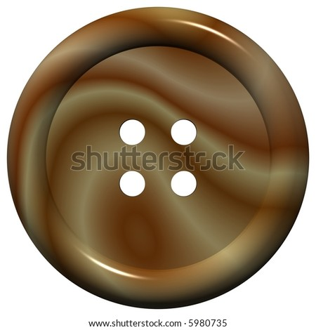 Beautiful clothes button isolated on white