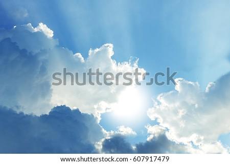 beautiful cloud and sunbeam