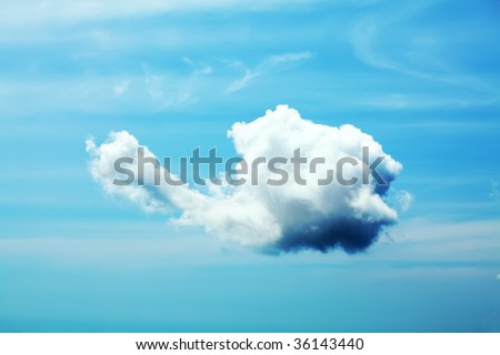 Beautiful cloud in blue sky with good shape.
