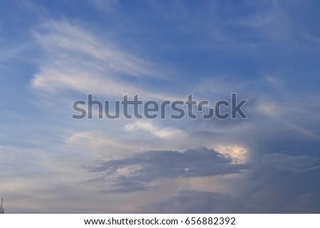 Beautiful cloud pattern in the sky #656882392