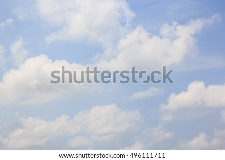 Beautiful cloud with blue sky natural background. #496111711