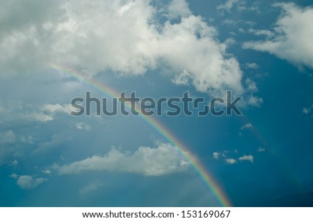 beautiful cloud with rainbow, sky background