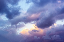 Beautiful clouds and sky after sunset