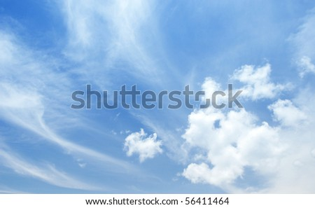 Beautiful clouds and sky with wind blowing.