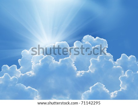 beautiful clouds and sun