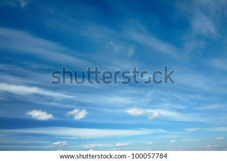 beautiful clouds, blue sky