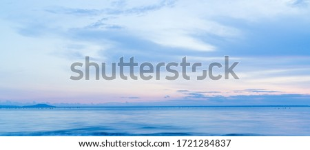 beautiful clouds over the sea. pastels tones