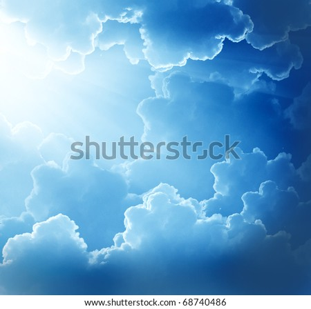 beautiful clouds  with sun