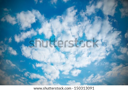 Beautiful cloudscape can be used for background