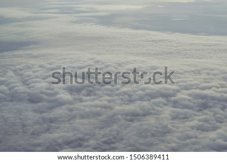 Beautiful cloudscape  from airplane perspective. #1506389411