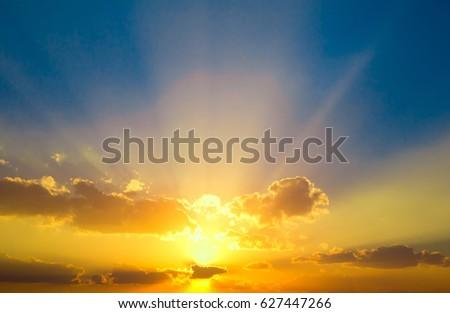 Beautiful Cloudscape Landscape  #627447266