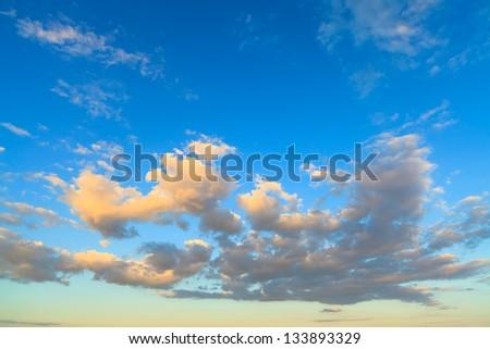 Beautiful cloudscape over Perdido Beach in Pensacola, Florida.