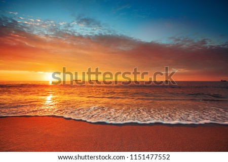 Beautiful cloudscape over the sea, sunrise shot