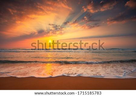Beautiful cloudscape over the sea, sunrise shot