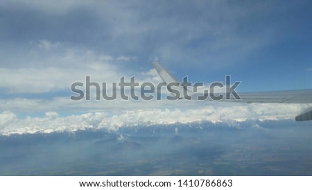 beautiful cloudscape view at 20 thousand ft. hight #1410786863