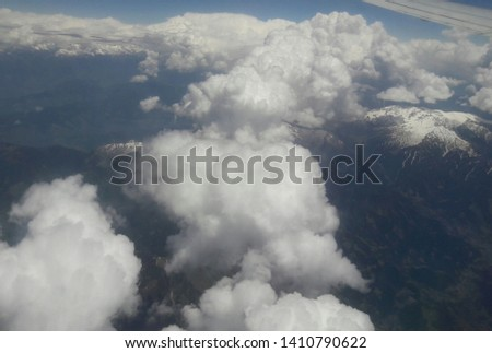 beautiful cloudscape view at 20 thousand ft. hight #1410790622