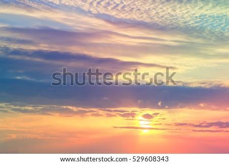 Beautiful cloudy sky, backgroud #529608343