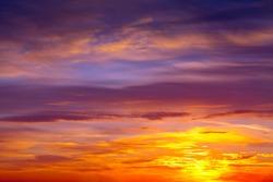 Beautiful cloudy sky on dawn