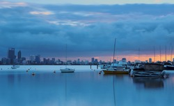Beautiful Cloudy Sunrise at Matilda Bay