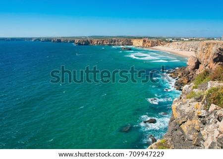 Beautiful coast of Portugal, Sagres #709947229