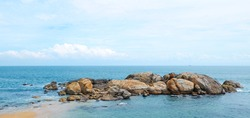 Beautiful coast of the Indian Ocean
