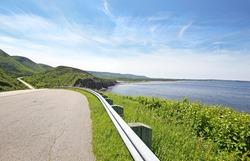 Beautiful coastal Road. Cabot Trail, Cape Breton Highlands National Park,  Nova Scotia, Canada