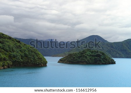 Beautiful coastline of Marlborough Sounds, New Zealand