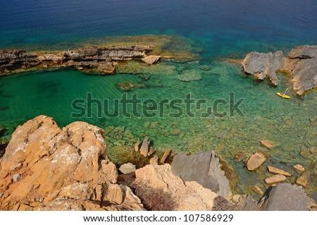 Beautiful coastline of Menorca, Balearic Islands, Spain