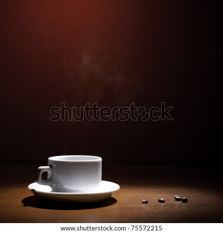 Beautiful coffee still-life on a dark background