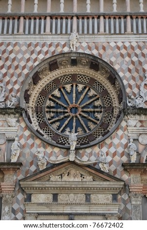 Beautiful Colleoni chapel detail, old town, Bergamo, Lombardy, Italy