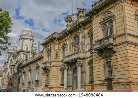 Beautiful colonial center of the city of Merida in Venezuela
