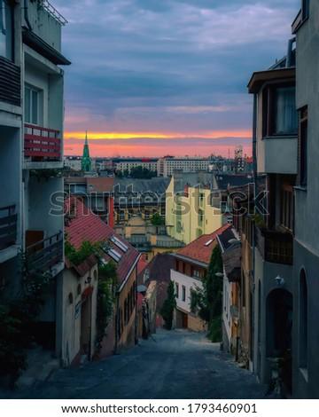 Beautiful color cavalcade from the Gül baba street Stok fotoğraf ©