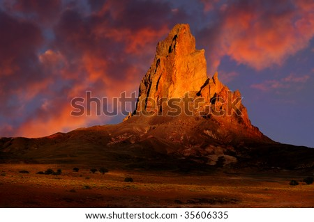 Beautiful Color Image of monument valley at sunset