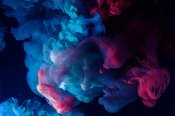 Beautiful color smoke underwater. Abstract background