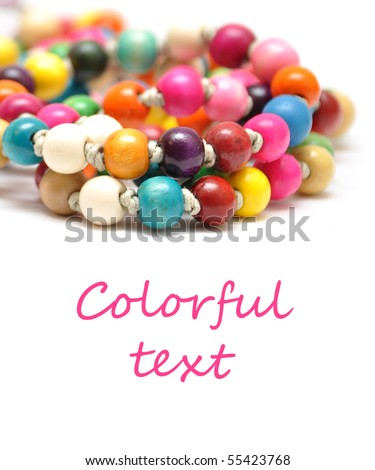 Beautiful colorful beads on white background