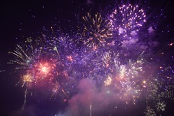 Beautiful colorful firework texture background