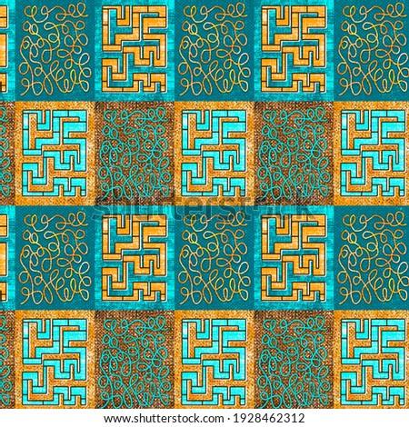 Beautiful colorful geometric sample pattern