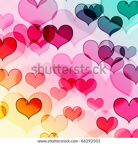 Beautiful Colorful Heart Shape Background Stock Photo 66292501