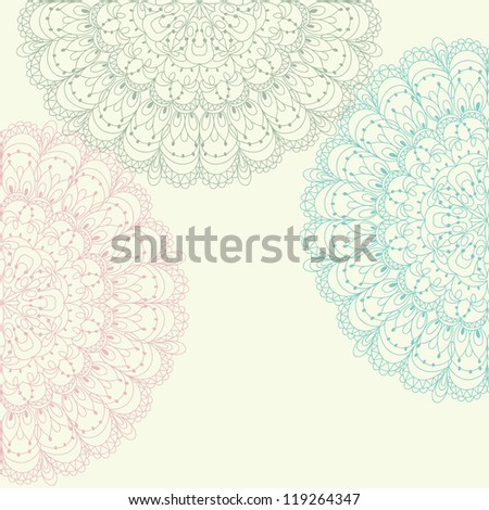 Beautiful colorful lace ornament for merry christmas card, background, backdrop, wallpaper, invitation, border, banner, brochure raster