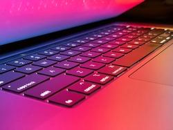 Beautiful Colorful Laptop Computer Keyboard