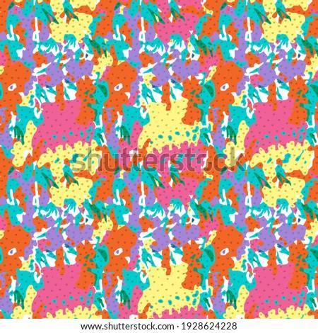 Beautiful colorful splash sample pattern