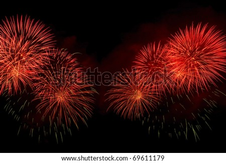Beautiful colors of fireworks night