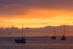 Beautiful colours in the port of American River, Kangaroo Island, South Australia, Australia.