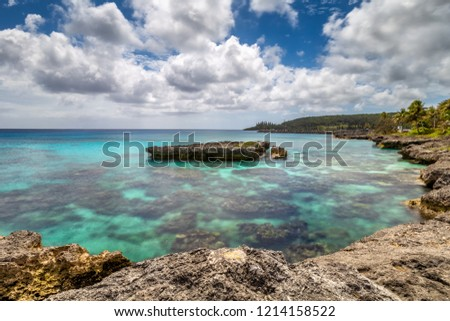 Beautiful Coral Reef Formation on the Coast of Mare, New Caledonia