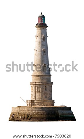 beautiful Cordouan king of the lighthouses isolated on white background