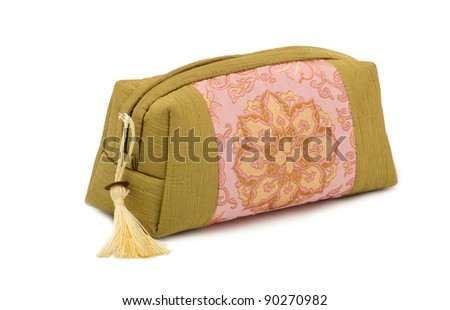 beautiful cosmetic bag in the eastern style with patterned mandala