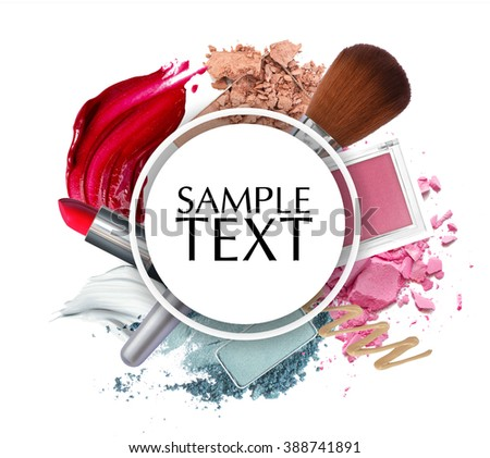 Shutterstock beautiful cosmetic promotion circle frame